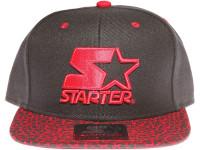 Starter Red Classic Star Logo Speckle Brim STARTER Black Snapback Hat