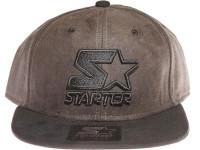 Starter Classic Black Star Logo STARTER Brown Suede Snapback Hat