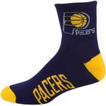 Indiana Pacers Team Logo Quarter-Length NBA Socks - Navy Blue/Gold