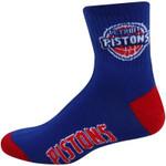 Detroit Pistons Team Logo Quarter-Length NBA Socks - Royal Blue