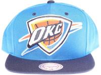 Oklahoma City Thunder OKC Logo Mitchell & Ness 3M Reflective Underbrim Snapback Hat
