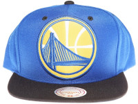 Golden State Warriors Logo Mitchell & Ness 3M Reflective Underbrim Snapback Hat