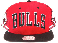 Copy of Chicago Bulls Arch Side Jersey Mitchell & Ness Red Snapback Hat