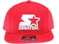 Starter White Classic Star Logo STARTER Red Snapback Hat
