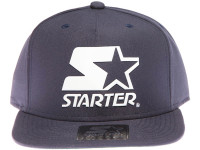 Starter Classic White Star Weld Logo STARTER Navy Blue Snapback Hat