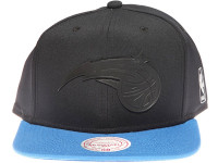 Orlando Magic Black Weld Logo Mitchell & Ness Black and Blue Snapback Hat