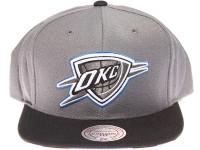 Oklahoma City Thunder OKC Zebra Underbrim Mitchell & Ness Grey Snapback Hat