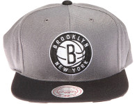 Brooklyn Nets Zebra Underbrim Mitchell & Ness Grey Snapback Hat