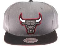 Chicago Bulls Zebra Underbrim Mitchell & Ness Grey Snapback Hat