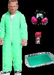 """Breaking Bad - Jesse Pinkman Blue Hazmat 6"""" Action Figure Exclusive"""