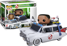 Ghostbusters - Ecto 1 Pop! Vinyl Vehicle with Zeddemore Pop! Vinyl Rides Figure