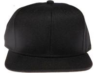 Blank / Plain Solid Black Unbranded Snapback Hat