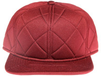 Maroon / Burgundy Quilted Plain / Blank Unbranded Snapback Hat
