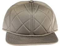 Military Green Quilted Plain / Blank Unbranded Snapback Hat