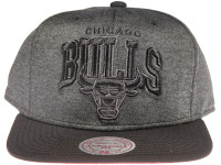 Chicago Bulls Grey Nylon Arch Mitchell & Ness Snapback Hat