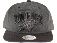 Oklahoma City OKC Thunder Grey Nylon Arch Mitchell & Ness Snapback Hat