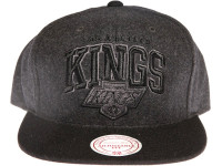 Los Angeles Kings Grey Wool Arch Mitchell & Ness Snapback Hat