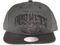 Charlotte Hornets Grey Nylon Arch Mitchell & Ness Snapback Hat