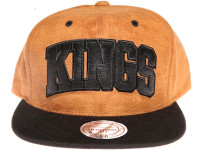 Los Angeles Kings Brown Suede Arch Mitchell & Ness Snapback Hat