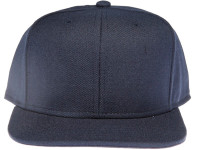 Navy Blue Plain / Blank Core Unbranded Snapback Hat