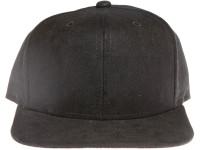 Black Seude Blank / Plain Unbranded Snapback Hat