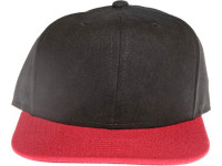 Black Seude Two-Tone Maroon Red Brim Blank / Plain Unbranded Snapback Hat