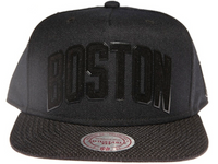 Boston Celtics Black Arch Mitchell & Ness Snapback Hat