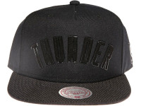 Oklahoma City Thunder Black Arch Mitchell & Ness Snapback Hat