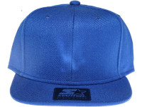 Starter Classic Solid Blue Blank / Plain Snapback Hat