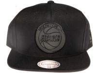 Houston Rockets NBA Black Reflective Logo Mitchell & Ness Black Snapback Hat