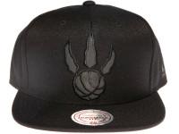 Toronto Raptors NBA Black Relflective Logo Mitchell & Ness Black Snapback Hat