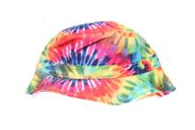 Tie Dye Starburst Multi Colour Blank Unbranded Bucket Hat