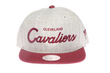 Cleveland Cavaliers Script Two-Tone Mitchell & Ness Snapback Hat