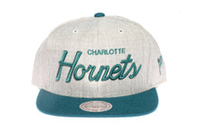 Charlotte Hornets Script Two-Tone Mitchell & Ness Snapback Hat