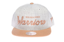 Golden State Warriors Script Two-Tone Mitchell & Ness Snapback Hat