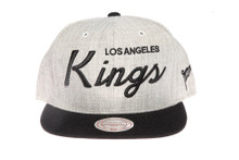 LA Kings Script Two-Tone Mitchell & Ness Snapback Hat