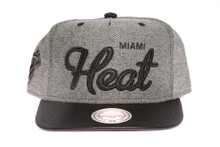 Miami Heat Denim Script Mitchell & Ness Snapback Hat