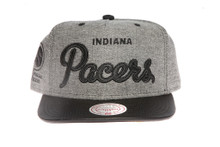 Indiana Pacers Denim Script Mitchell & Ness Snapback Hat