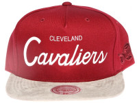 Cleveland Cavaliers Script Two-Tone Suede Brim Mitchell & Ness Snapback Hat