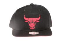 Chicago Bulls Suede Underbrim Mitchell & Ness Snapback Hat