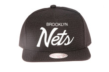 Brooklyn Nets Script Canvas Mitchell & Ness Snapback Hat