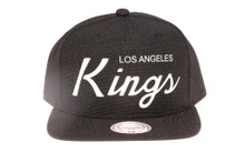 LA Kings Script Canvas Mitchell & Ness Snapback Hat