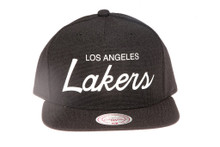 LA Lakers Script Canvas Mitchell & Ness Snapback Hat