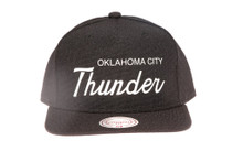 OKC Thunder Script Canvas Mitchell & Ness Snapback Hat