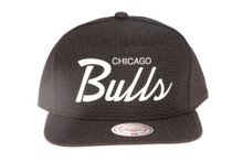 Chicago Bulls Script Canvas Mitchell & Ness Snapback Hat