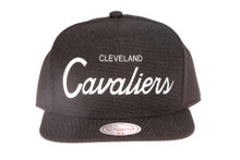 Cleveland Cavaliers Script Canvas Mitchell & Ness Snapback Hat