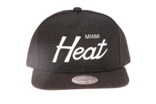 Miami Heat Script Canvas Mitchell & Ness Snapback Hat