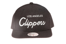 LA Clippers Script Canvas Mitchell & Ness Snapback Hat