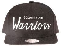 Golden State Warriors Script Canvas Mitchell & Ness Snapback Hat
