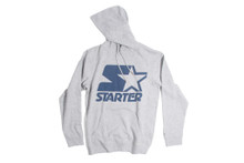 Starter Navy Logo Grey Hoodie Jersey